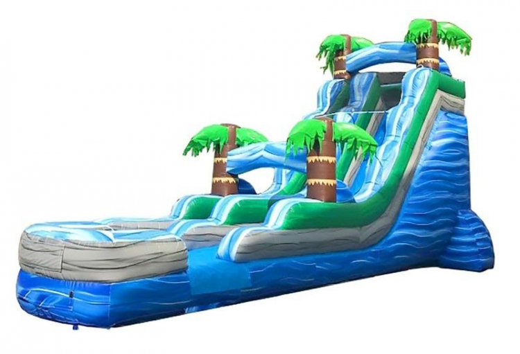 18ft Blue Tropical Slide